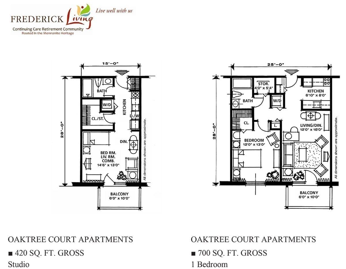 oaktree apartment floorplan