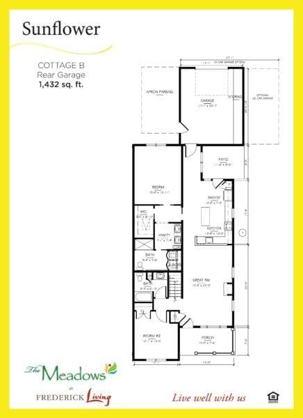 sun flower floor plan