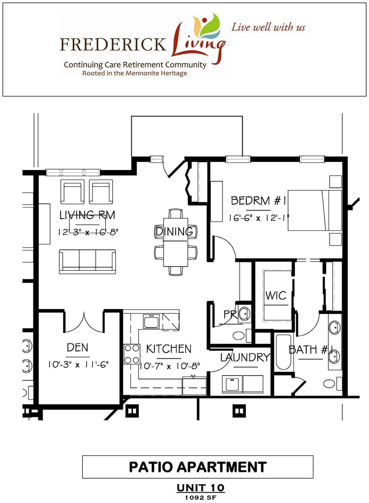 patio home floor plan