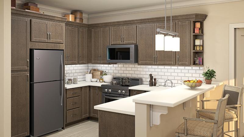Garden Court Apartment Kitchen