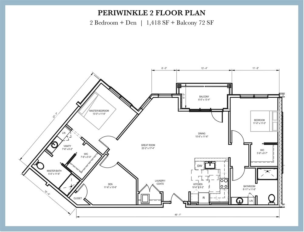 Periwinkle 2 Floor Plan