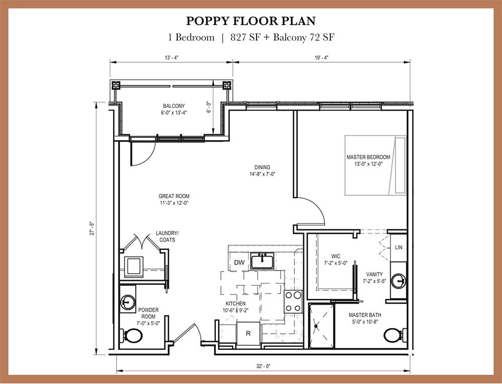 Poppy floor plan