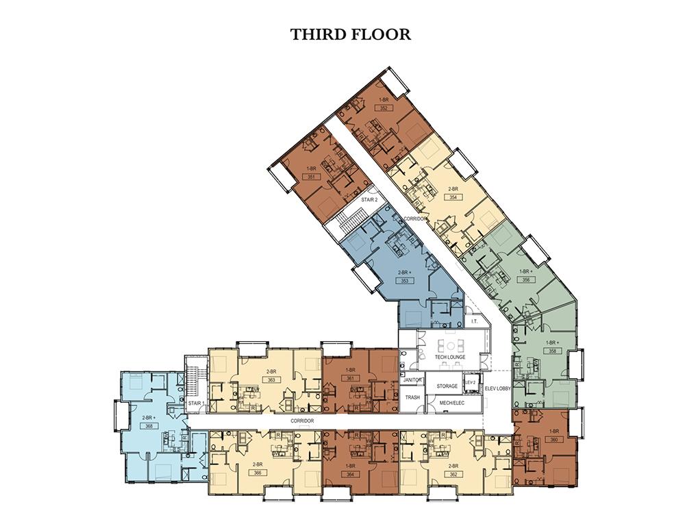 Third Floor Garden Court Apartments